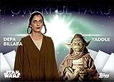 2020 Topps Women of Star Wars Powerful Pairs #PP-16 Depa Billaba & Yaddle Star Wars Card
