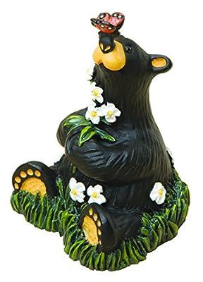 DEMDACO Rachel Mini Floral Black 3 x 3 Handcast Resin Stone Collectible Figurine