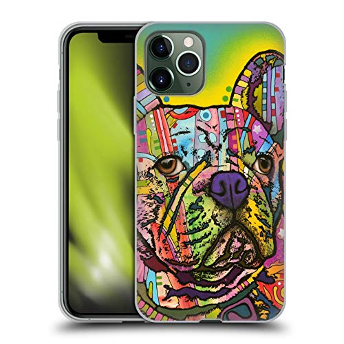 Head Case Designs Officially Licensed Dean Russo French Bulldog Dogs Soft Gel Case Compatible with Apple iPhone 11 Pro