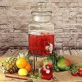 bar@drinkstuff Distributore di bevande da 5.6 litri con supporto in acciaio, perfetto per servire vino, succo di frutta, acqua, champagne e altre bevande fredde