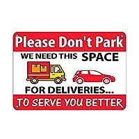 このスペースが必要な駐車しないでください。 より良いサービスを提供するために 金属板ブリキ看板警告サイン注意サイン表示パネル情報サイン金属安全サイン