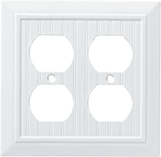Franklin Brass W35271-PW-C Classic Beadboard Double Duplex Wall Plate/Switch Plate/Cover, Pure White
