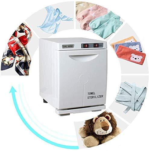 Handdoek Sterilizer, Mini Hot Towel Warmer UV Verwarming 2 in 1 Desinfectie Kast Onafhankelijke Schakelaar Verwijderbare wastafel Handdoek Kast voor Barbershop Salon Wit
