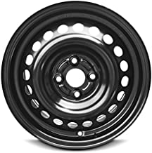 Road Ready Car Wheel For 2015-2018 Honda Fit 15 Inch 4 Lug Black Steel Rim Fits R15 Tire - Exact OEM Replacement - Full-Size Spare