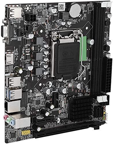 MWKL Placa Base Mejorada para computadora de Escritorio, Placa Base DDR3 LGA 1155 SATA3.0, con Interfaz Dual USB3.0, para la Serie Intel B75