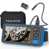 Teslong Dual Lens Endoscope Camera, 1080P Dual Camera Borescope Inspection Camera with 4.5' IPS Monitor-16ft Waterproof Snake Camera-LED Ring Light-32GB MicroSD Card-Chargeable Battery -Carrying Case