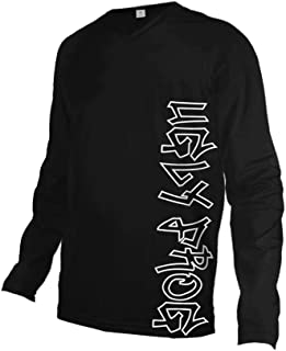 Uglyfrog Mens Winter Fleece Downhill Jersey, Long Sleeve Cycle Tops, Mountain Bike/MTB Shirt, Reflective Biking Bicycle Clothes, Great Cyclist Gifts -High Visible and Quick Dry
