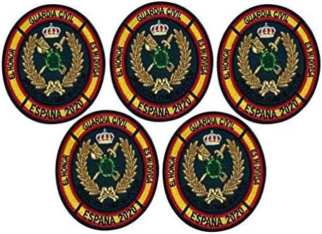 Gemelolandia | Pack de 5 Parches bordados para la ropa Operación Balmis 2020 Operación Militar España 8 cm Parche Hook and Loop Unidades Militares Españolas | Muy Adherentes | Patch Stickers: Amazon.es: Ropa y accesorios