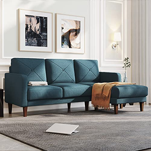Belffin Convertible Sectional Sofa Couch with Chaise L Shaped Sofa Couch Reversible Sofa Couch Blue