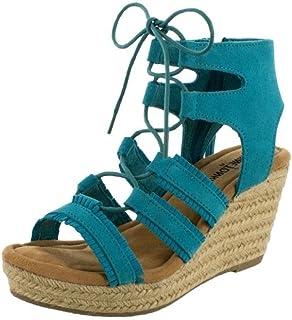 Minnetonka Leighton/Turquoise Suede, Sandale à Talon Femme