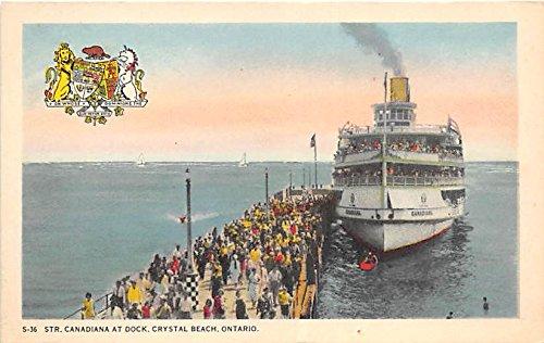 Str Canadiana at Dock, Crystal Beach Ontario, Canada Postcard Post Card