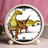 Alarm Clock, Bedroom Tabletop Retro Portable Clocks with Nightlight Custom designs Dinosaurs 26_Nanyangosaurus dinosaur