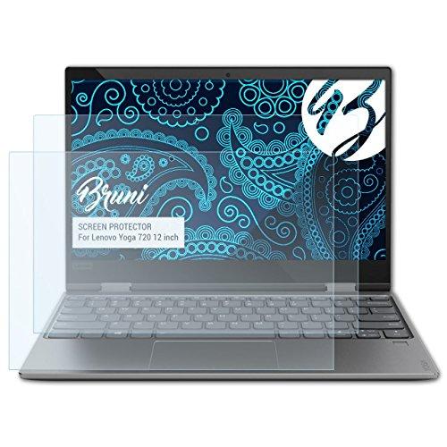 Bruni Schutzfolie kompatibel mit Lenovo Yoga 720 12 inch Folie, glasklare Bildschirmschutzfolie (2X)