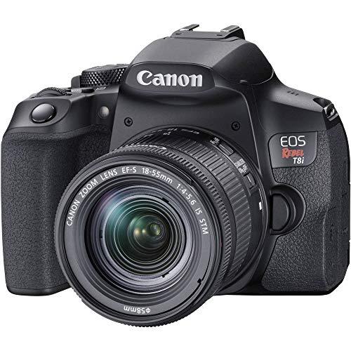 Câmera Canon EOS Rebel T8i com Lente 18-55mm IS STM
