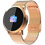 Smart Sports Watch Q8, Fitness Tracker, Waterproof Touch Screen for Men Women Outdoor, Calorie/Step Counter Sleep & Blood Pressure Oxygen Monitor, for Android iOS