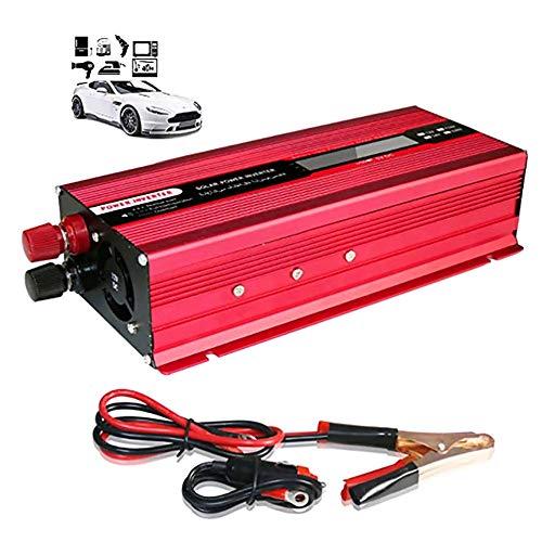 LNLN Auto-Wechselrichter, Spannungswandler, Mit USB-Aufladung, Gleichstrom Zu Wechselstrom, Mit Batterieklemme Und ZigarettenanzüNder, Leiterwellenform,12V-220V-1500W