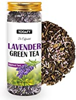YOGAFY Lavender Green Tea Whole Leaf | for Better Mood and Sleep | 100 Gram - 50 Cups |