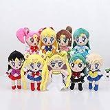 N\A 9pcs / Set 20cm Sailor Moon Peluche De Peluche De Juguete De Regalo