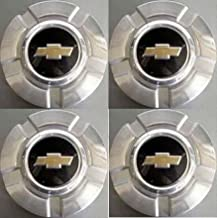 4pcs. 18 Inch Chevy 6 Lug Machined aluminum Center Caps Hubcaps Wheel Cover 2007-2014 # 9596343 or 9597991 5291 Silverado Suburban Tahoe Avalanche 1500 Pickup Truck Suv