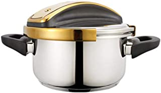 4L-7L thick stainless steel pressure cooker Household small soup pot Multifunctional saucepan Gas induction cooker general...