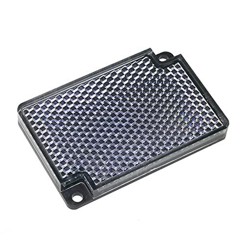 BeMatik - Espejo reflector catadióptrico rectangular para fotocélula fotoeléctrica 55x35mm