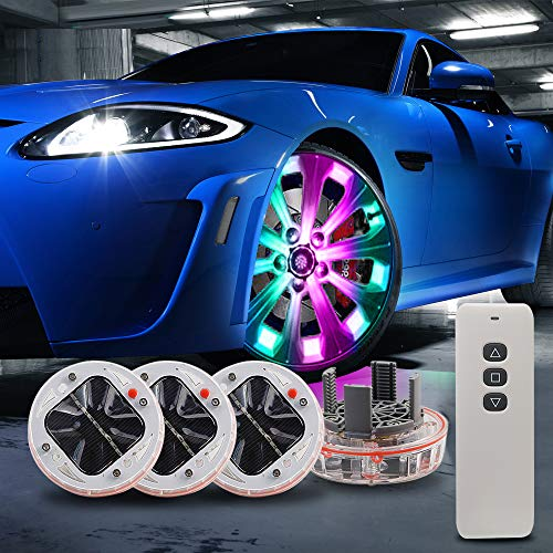 LEADTOPS 194 W5W 168 RGB White T10 LED Light Bulb-RF Remote Control Courtesy MAP Lights Interior Car License Plate Dome Map Door 2-Pack