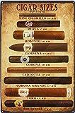 Cigars Metal Tin Sign 8x12 Inch Vintage Home Office Poster Bar Pub Cafe Decorative Plaque Home Decor Cigar Decor