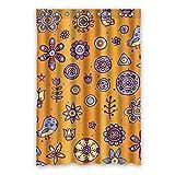 Once Young–Creative Cartoon-Muster Lila Vorhang für die Dusche, Polyester Stoff wasserdicht Duschvorhang Badezimmer Deko 121,9x 182,9cm (120x 183cm), Polyester, K, 48