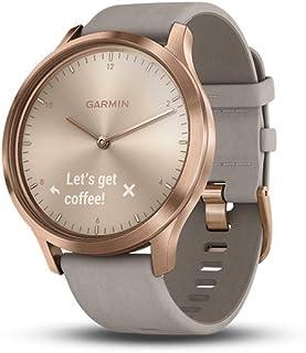 comprar comparacion Garmin Vivomove HR Premium Hybrid Smartwatch Rose Gold with Grey Suede Band 010-01850-09