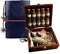 Witchcraft Travel Kit Book of Shadows Altar kit Apothecary kit Crystal Witchcraft kit Wooden Box Witch kit sage Incense Rose Quartz Crystals sage Bundles