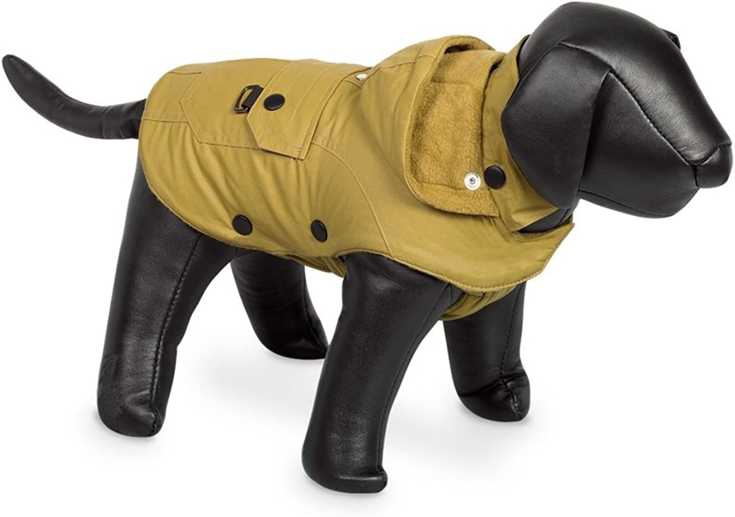 Nobby Mellow Hooded Dog Coat (10in) (Yellow)