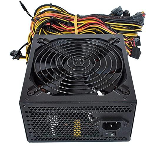LMJI Servidor de Fuente de alimentación de máquina de minería de computadora de minería dedicado con Cable de alimentación, Negro