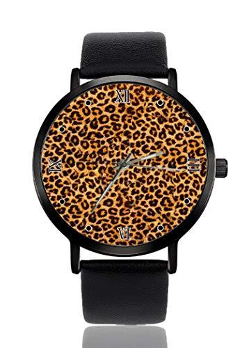 PALFREY - Alfombra de piso con estampado de leopardo con parte trasera...