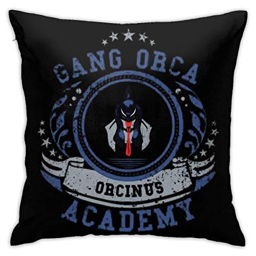 LongShanXianShenQingJiaoHouJiaoZiDian Gang+Orca+Academy.jpg Decorative Throw Pillow Covers for Sofa Couch Cushion Pillow Cases 18x18 Inch