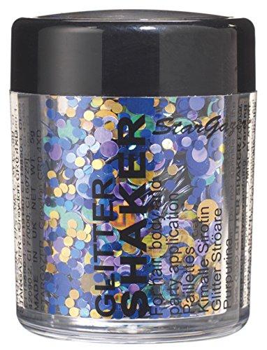 Stargazer Confetti Paillettes, Aqua. Cosmétique Paillettes pour une utilisation sur les yeux, lèvres, du visage, du corps, des cheveux et des ongles.