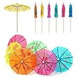 Yongbest Parasoles de Papel Colorido,50 Piezas Toothpicks del Paraguas Bebida Paraguas de cóctel Sombrillas para Fiestas Fiestas Tropicales Playa