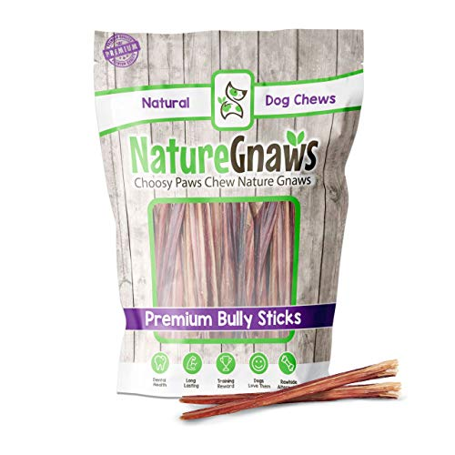 Nature Gnaws Extra Thin Bully Sticks for Dogs -...