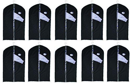 10 custodie appendiabiti con finestrella, da circa 100 x 60 cm, sacchi per vestiti, custodie per abiti