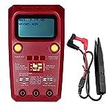 BEVANNJJ ZYY Transistor de Mano Tester, componentes del medidor LCD multímetro Digital probador de transistores SMD diodo electrónico Tríodo Condensador Resistencia Inductancia LCR ESR Checker, Rojo