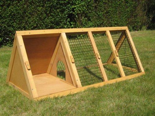 BUNNY BUSINESS Spitzer Laufstall mit Gehäuse, für Kaninchen°/°Meerschweinchen, 1,20°m - 2