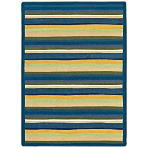 Joy Carpets Kid Essentials Active Play & Juvenile Yipes Stripes Rug, Bold, 7'8″ x 10'9″
