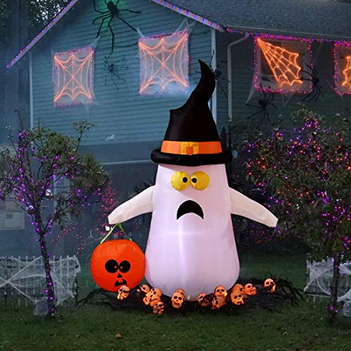 Ghost with Pumpkin Best Halloween Inflatable Yard Decorations