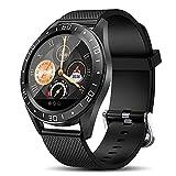 Orologi Polso Smart Watch Men. GUIDATO Orologio da Polso del cronografo del cronografo del cronografo del Sangue del Monitor della frequenza cardiaca dello Schermo Cronometro (Color : Black)
