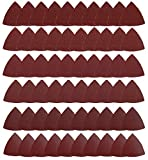 HEMUNC Triangle Oscillating Multi Tool Sanding Pads, 60Pcs 3-1/8 Inch Oscillating tool sandpaper for Triangle...