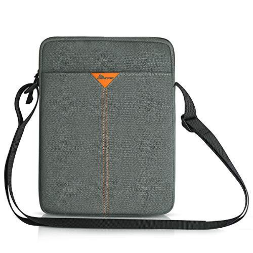 SIMTOP 11 Inch Tablet Sleeve Shoulder Messenger Bag for 9.7'10.5'11' iPad Pro/Air/Mini Microsoft 10''Surface Go 2/10.5'Samsung Galaxy Tab/10.8' Huawei MediaPad M5 Pro,Waterproof Computer Case HandBag