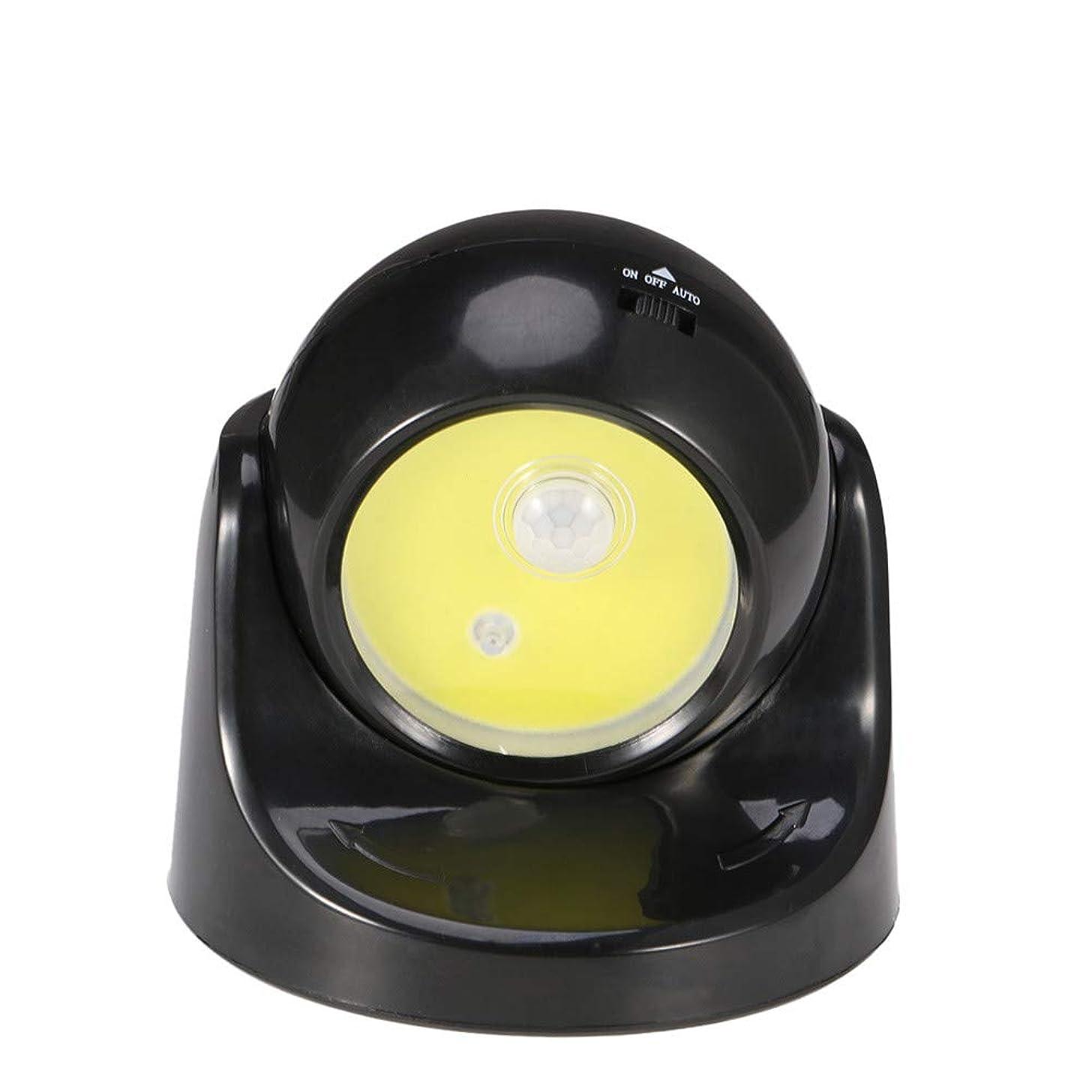 LED Night Light COB LED Cordless Switch Wall Light Battery Moon Lamp for Undoor Indoor (Black)