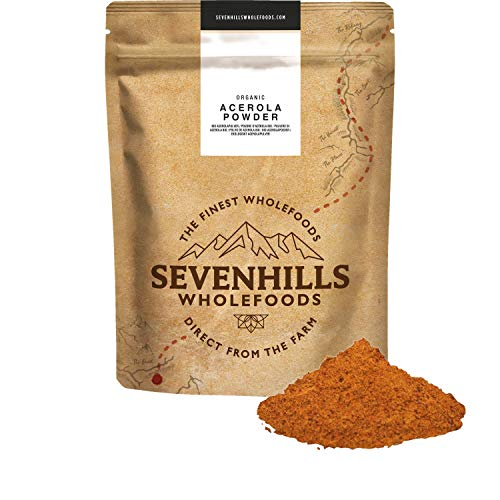 Sevenhills Wholefoods Organic Acerola Powder 250g, Natural Vitamin C