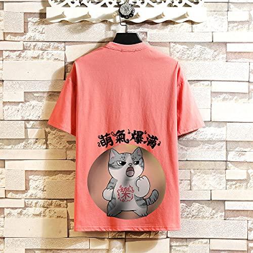 Camiseta De Manga Corta T-Shirt Camiseta De Manga Corta De Verano para Hombre Camiseta con Estampado En Blanco Y Negro Top Hip Hop Punk Rock Ropa De Moda Oversize O Neck-T011 9_XL_For_170_Cm_70