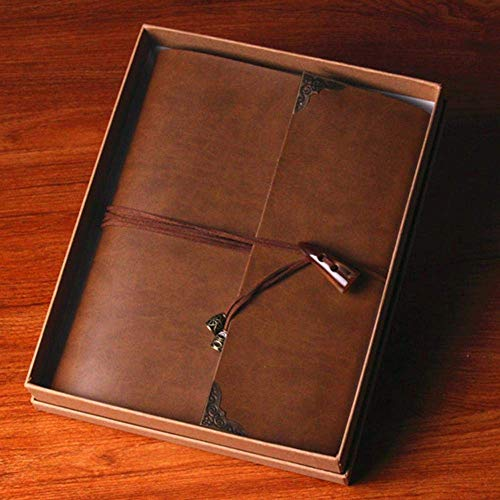LHQ-HQ Album de Fotos de 30 Hojas de Papel Negro Tarjeta de Boda Álbum de Fotos de época Hechos álbum de Recortes Álbumes de Fotos