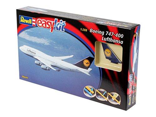 Revell Modellbausatz Flugzeug 1:288 - Boeing 747 Lufthansa easykit im Maßstab 1:288, Level 2, originalgetreue Nachbildung mit vielen Details, Zivilflugzeug, Passagierflugzeug, 06641